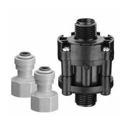 "65 psi water pressure reducer valve, 3/8"" John Guest® fittings"