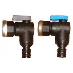 "Quick connect 90° ball valve shutoff set, 1/2"" FPT with SS ring"