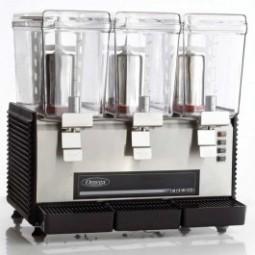 Omega visual cold drink dispenser, triple bowl