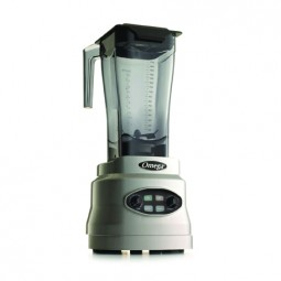Omega variable speed blender with timer and pulse, 3 HP, 64 oz unbreakable copolyester container
