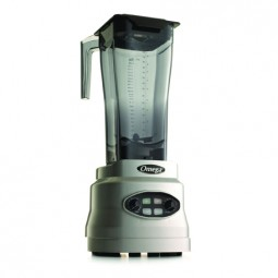 Omega variable speed blender with timer and pulse, 3 HP, 82 oz unbreakable copolyester container