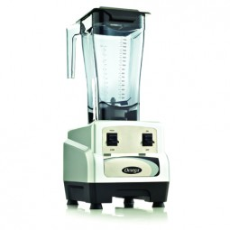 Omega blender with high/low toggle, 3 HP, 64 oz unbreakable copolyester container