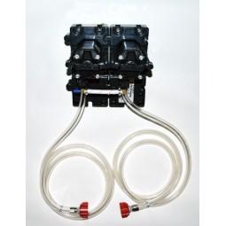 "Flojet 2 pump system CC adapters 3/8"" SS barb straight"