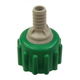 "BIB connector, green plastic, 3/8"""
