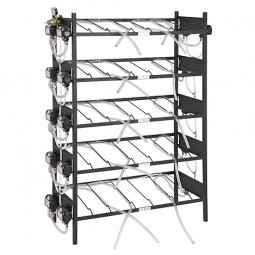 BIB inclined rack assy, 3x4, top pump mount, 12 pumps, connectors, reg set, line labels, tubing
