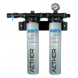 Twin filter, 25,000 gal, 4 GPM, 1 micron