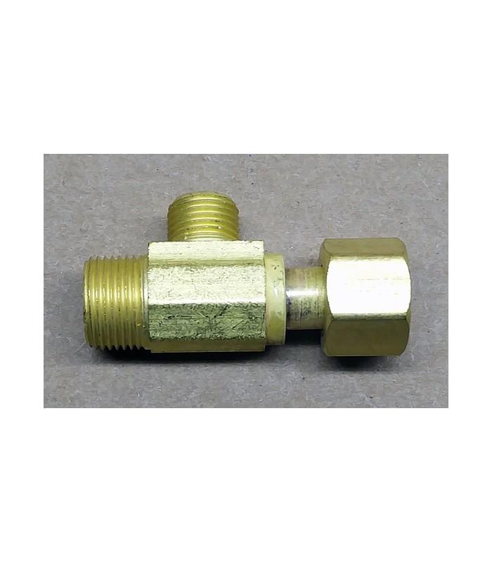 Brass tee female swivel compression