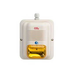 Horn/Strobe LED amber - Must be CO2 certified to install LogiCO2 alarms