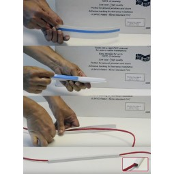 """Foldable 1"""" rigid raceway with adhesive backing for LogiCO2 cables, 50 ft"""