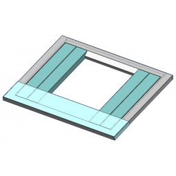 """Adapter universal 30"""" wide x 6"""" deep top plate (aqua colored part in picture)"""