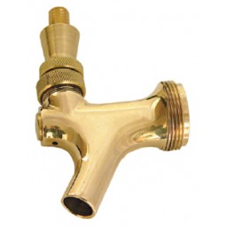 Polished brass American faucet with brass lever
