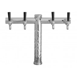 Crisscross T bar tower 4 faucet