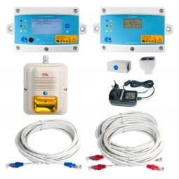 MK9 complete CO2 detection/alarm system with amber horn/strobe - Must be CO2 certified to install LogiCO2 alarms