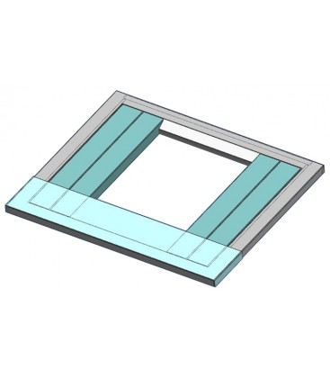"""Adapter universal 22"""" wide x 9.5"""" deep top plate (aqua colored part in picture)"""