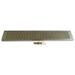 "Countertop drip tray 50"" x 8"" x .75""H"