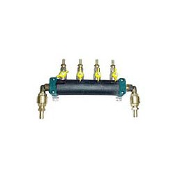 Glycol manifold assy SS 2 pump supply, 6 way