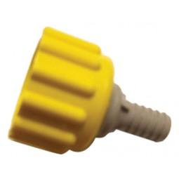 BIB connector, plastic, 3/8 yellow