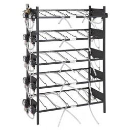 BIB inclined rack assy, 2x6, side pump mount, 12 pumps, connectors, reg set, line labels