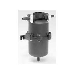"Accumulator tank, rubber valve, 125 psi, 1/2 quart/liter capacity, 1/2"" barb fittings"