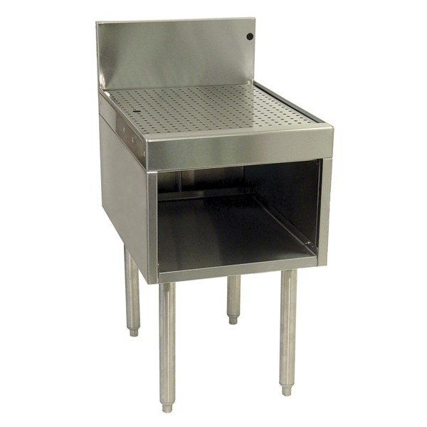 Underbar ss drainboard 1 2 cabinet 12 w x 24 d lancer direct for Bar with cabinets under